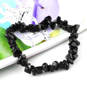 Hand Made Black Stone Bracelet