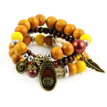 Wooden Festival Charm Bracelet