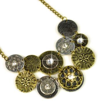 Vintage Disc Necklace