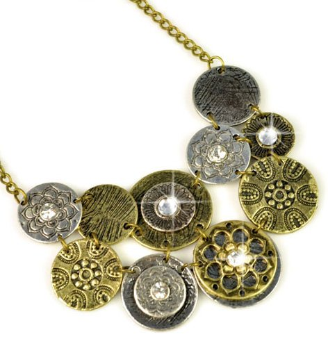 Vintage Disc Necklace