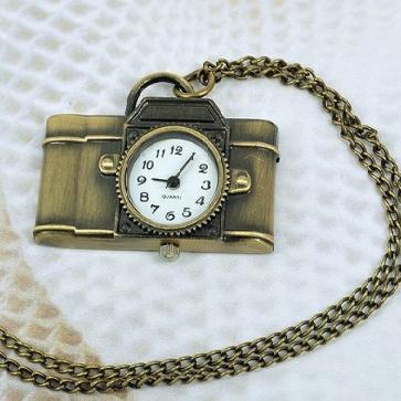 VIntage Camera Watch Necklace