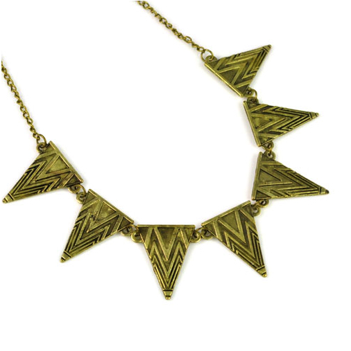 Bronze Triangle Necklace