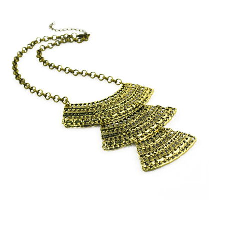 Egyptian Gold Weave Necklace