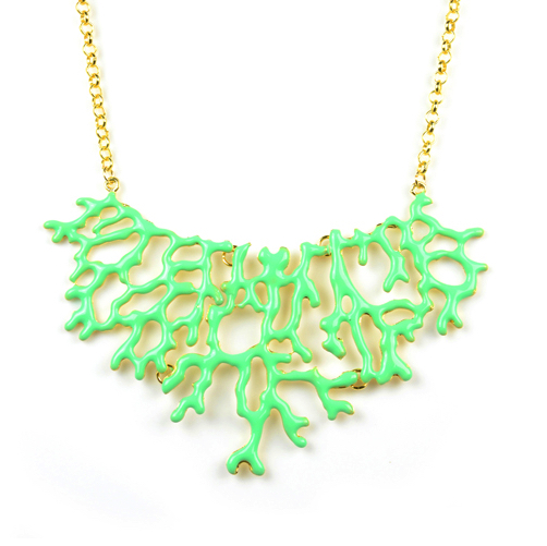 Mint Coral Necklace