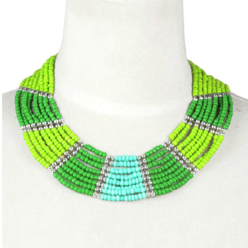 Green Mix Bead Necklace