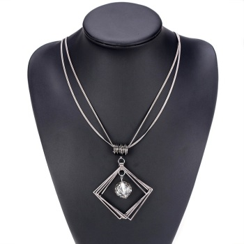 Statement Square & Gem Necklace