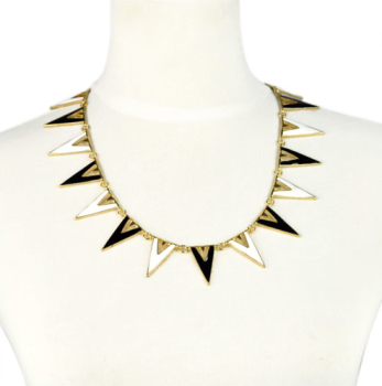 Black & White Triangle Necklace