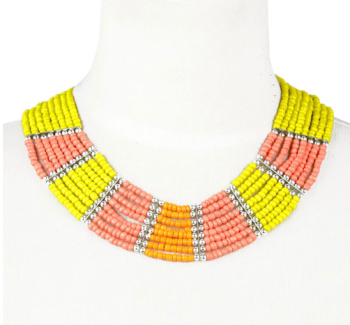 Yellow Mix Bead Necklace
