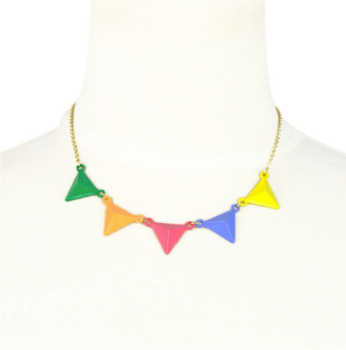 Colour Multi Triangle Necklace