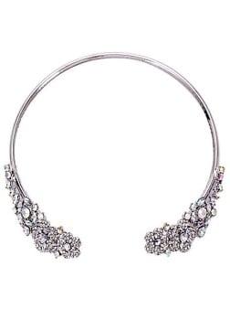 Silver & Iridescent 1920s Style Gem Choker