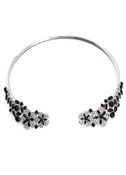 Silver & Black 1920s Style Gem Choker