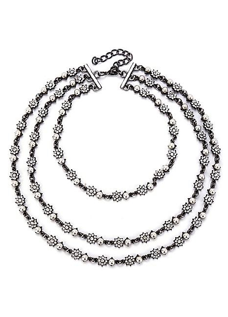 Mother of Pearl Waterfall Necklace