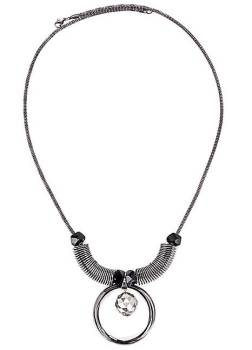 Statement Circle & Gem Necklace