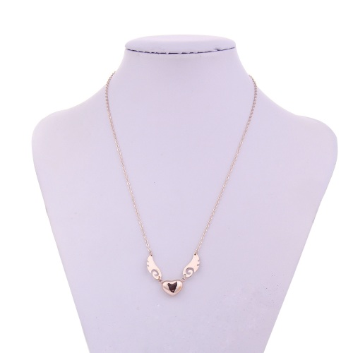 Gold Wing & Heart Necklace