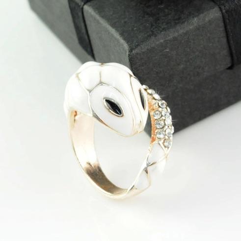 Enamel Snake Ring
