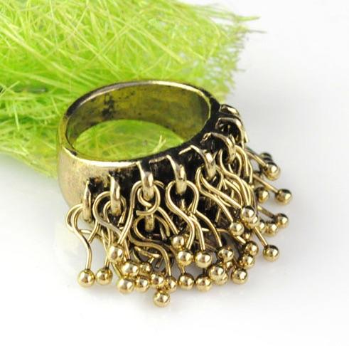 Bronze Tassel Ring