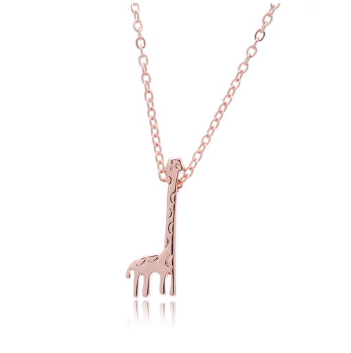 gold lisa giraffe jewellery angel necklace