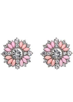 Vibrant Crystal Flower Earrings