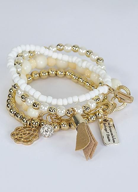 Love From Paris Eiffel Tower Pearl Bracelet