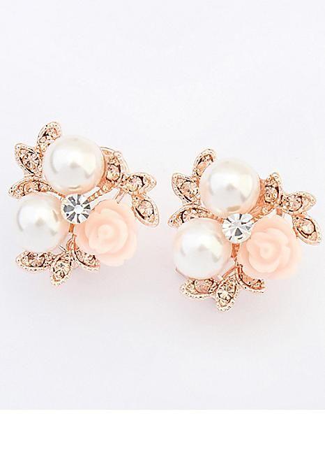 Rose Gold Garden Earrings