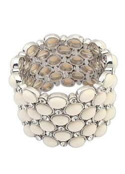 Timeless Stretch Cream Stone Bracelet