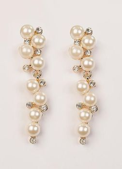 Multi Drop Pearl & Crystal Earrings