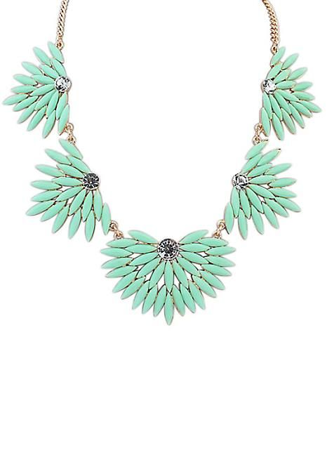 Nouveau Mint Gem Necklace