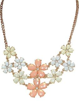 Multicoloured Daisy Drop Necklace