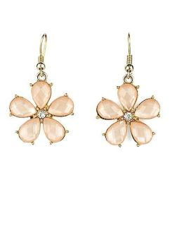 Baby Pink Daisy Drop Earrings