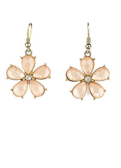 Baby Pink Daisy Drop Earrings