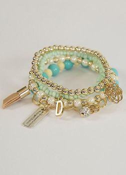 Love From Paris Turquoise Bead Bracelet