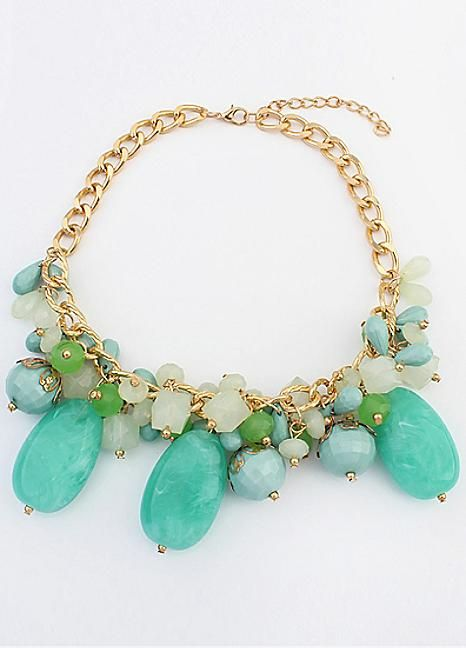Ocean Breeze Cluster Necklace