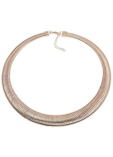 Rose Gold Tone Coil Necklace