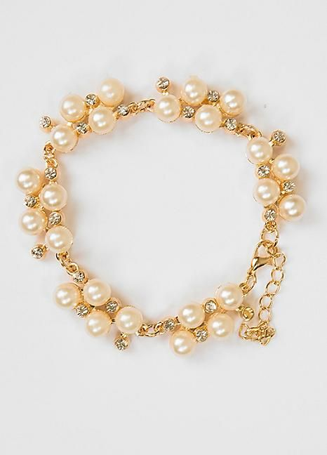 Classic Pearl Cluster Bracelet