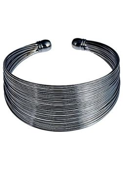 Pewter Tone Coil Bangle