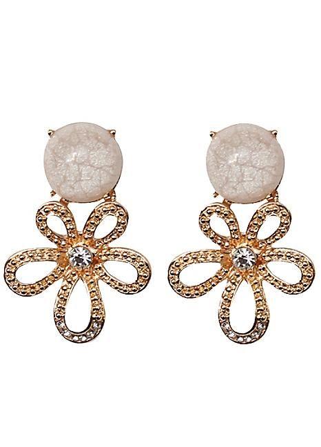 Marble Stone Earrings