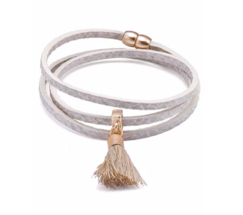Faux Snake Skin PU Wrap Bracelet