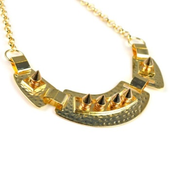Gold Extreme Spiked Necklace