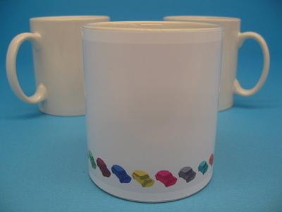 Ceramic 11oz Mug, Funky Minis Design