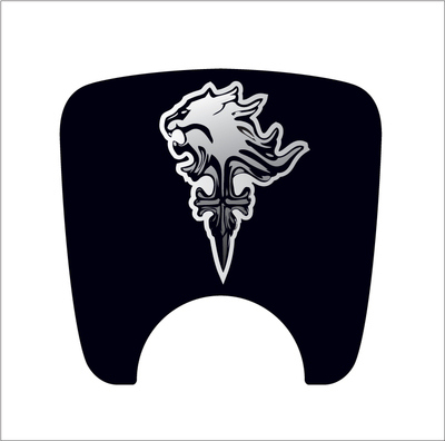 106 S2 Boot Lock Decal Plain Black With Silver Griever Emblem