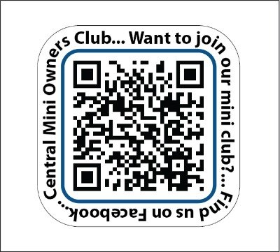 Small Clubs & Societies QR Code Decals - pack of 40