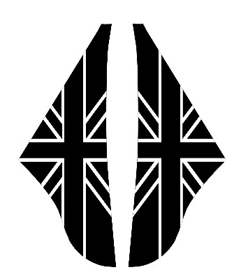 A Panel Black Union Flag