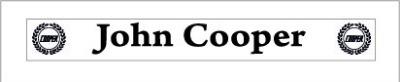 John Cooper Garages Dealership Number Plate decal X 2