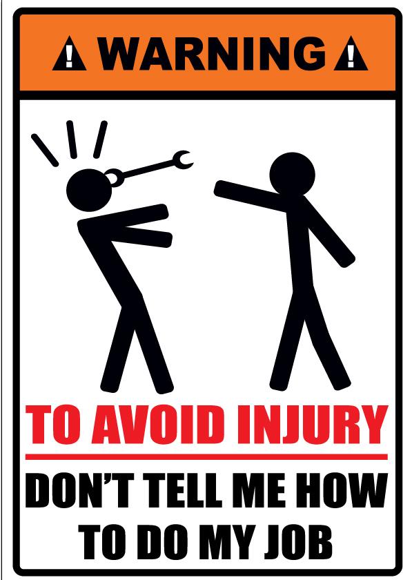u0026quot don u0026 39 t tell me how to do my job u0026quot  comedy sticker