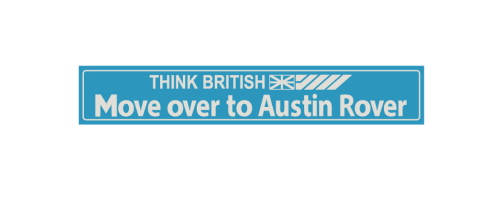 Think British Austin Rover Dealership Decal  X 2