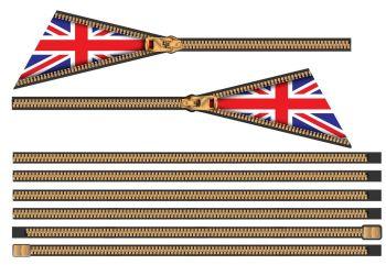 Union Jack Zip Side Stripes