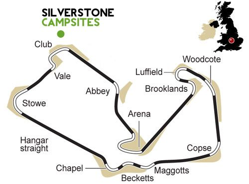 Silverstone Campsite Location