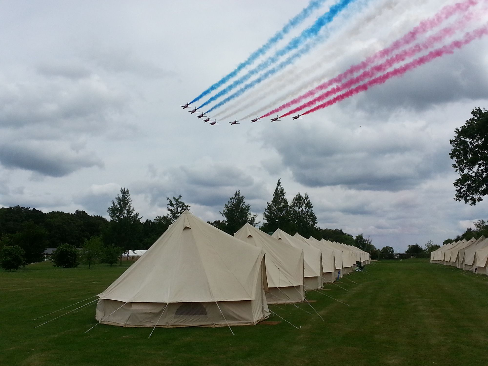 WOW tents Red Arrows