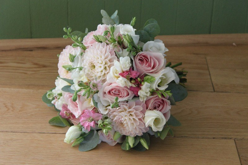 Pink summer brides bouquet