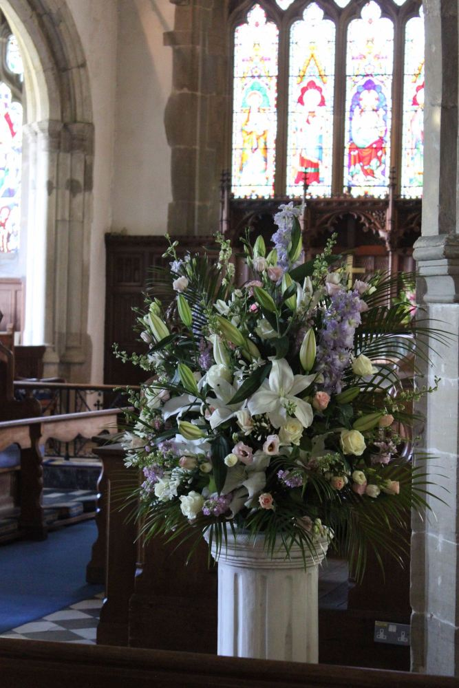 Church pedestal arrangement